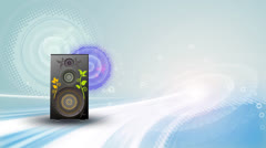 Music motion background - stock footage
