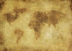 Antiikin maailman kartta. Kuvituskuvat