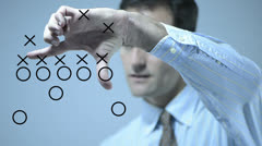 Football Strategy Stock Footage