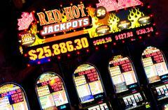 slot machines, las vegas, nevada - stock photo