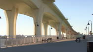 Stock Video Footage of FX7 Clearwater Memorial Causeway Zoom Out