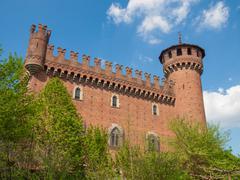 Medieval castle turin Stock Photos