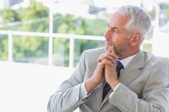 Stock Photo of Businessman thinking