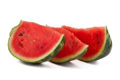 three watermelon slices - stock photo