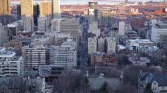 MONTREAL CBD kaupunki ilta Arkistovideo
