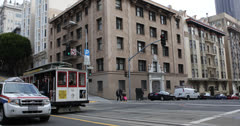 Ultra HD 4K Commuters, Passengers Tram Ride Cable Car San Francisco Tourist Stock Footage