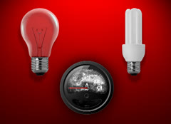 Energy saving lamps are different Stock Footage