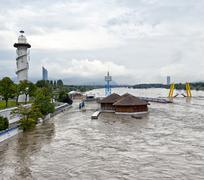 Tulvakatastrofin Tonavan Vienna 2013 Kuvituskuvat