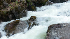 Reid Falls raging river waterfall Skagway Alaska HD 7147 Stock Footage