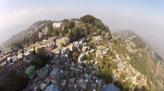 Himalayan paragliding over Darjeeling India Stock Footage