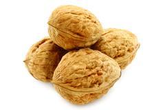 walnuts close-up - stock photo