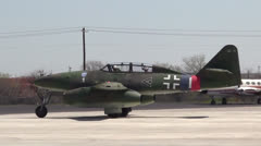 Me-262 P-51 Ready To Taxi - stock footage