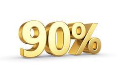 Stock Illustration of golden 90 percent  isolated