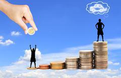 Increase your savings . Stock Photos