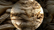 Stone Face Sphere Motion Mapping Stock Footage