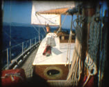 SUPER 8 old boat sailing in mediterranean sea 2 Stock Footage