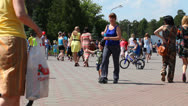 Crowded Park Stock Footage