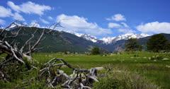 Rocky Mountain TimeLapse 2K Stock Footage