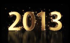 new year 2013 background - stock illustration