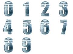 collection of iced numbers - stock illustration