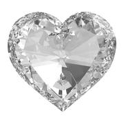 beautiful diamond heart isolated with clipping path - stock illustration