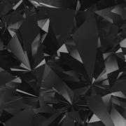 black crystal facet background - stock illustration