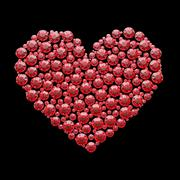red diamond heart - isolated with clipping path - stock illustration