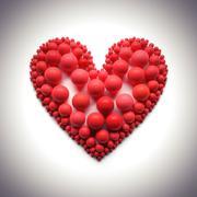 heart illustration on white - stock illustration