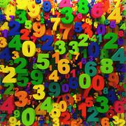 colorful digits background  0-9 - stock illustration