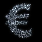 diamond symbol currency - euro - stock illustration