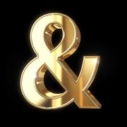 Ampersand symbol with clipping path Stock Illustration