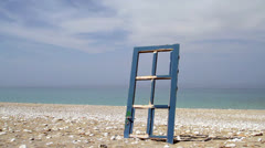 Door to the dreamed vacation Stock Footage