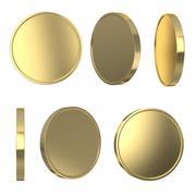 Golden blank coins Stock Illustration