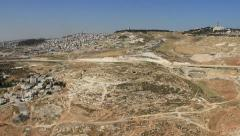Mt. of Olives Aerial/ Hebrew University Stock Footage