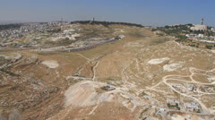 Mt. of Olives Aerial Stock Footage