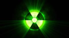 Radioactive danger - stock footage