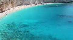Famous beach of Porto Katskiki Stock Footage