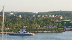 Fisher Island Fairy Boat Stock Footage