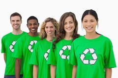 Cheerful group of environmental activists Stock Photos