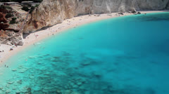 Turquoise waters of Ionian sea beach Stock Footage