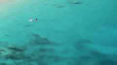 Romance in the blue waters Stock Footage