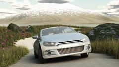Landscape car 2 Stock Illustration