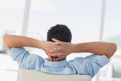 Creative business employee relaxing Stock Photos