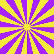 Sunbeams in Violet and Yellow - stock illustration