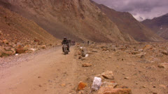 Royal Enfield for freedom in Ladakh Stock Footage