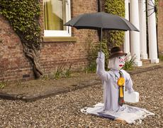 scarecrows, dr foster - stock photo