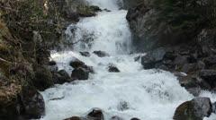 Waterfall Reid Falls Skagway Alaska rushing water HD 7153 Stock Footage