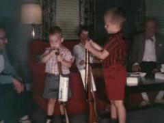 BB Gun  vintage  1950's with Kids Stock Footage