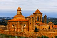 Stock Photo of monastery santa maria de poblet, spain