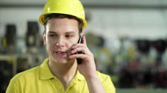 Industry Caller Angry Stock Footage